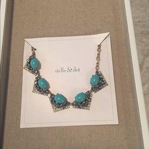 """Stella & Dot Rory Necklace 19"""" blue"""